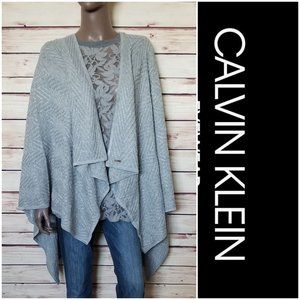 CALVIN KLEIN Poncho Cardigan w Metallic Thread